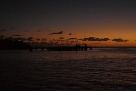 Blick vom Boot in der Bucht Kuto auf Ile des Pins